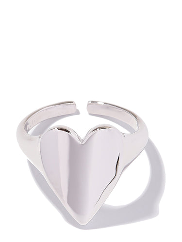 EXCLAiM Heart Ring Silver