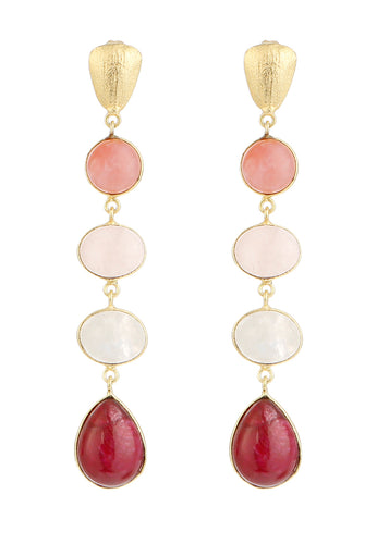 EXCLAiM Shades-of-Red Earrings