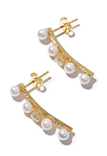 EXCLAiM Pearl Earrings 925 Silver - EXCLAiM