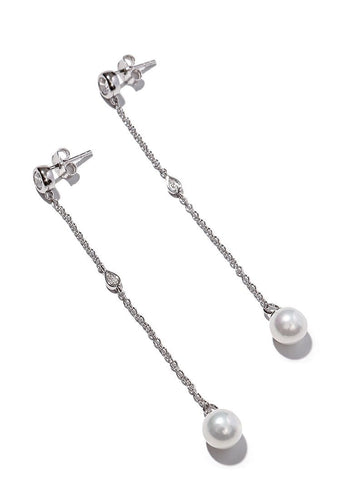 EXCLAiM Pearl Drop Earrings 925 Silver - EXCLAiM