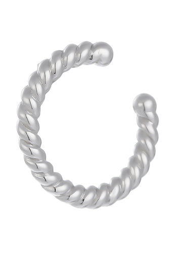 EXCLAiM Braided Cuff Earrings SIlver