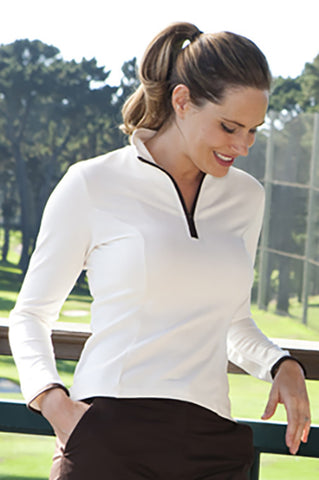 Monaco princess l/s colortipped shirt - sizes 2-16