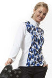 Monaco princess l/s print panel shirt - sizes XS - XL