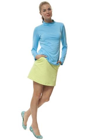 Kate long sleeve mock turtle top- solids