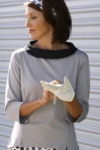 Audrey UPF 50+ collared bateau neck shirt