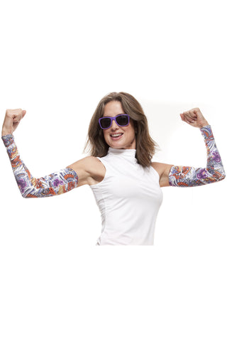 del Sol Print Sun Sleeves- Unisex UPF 50+ lightweight arm protection