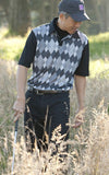 Westchester men's s/s print polo - Final Sale (exhange for size only)
