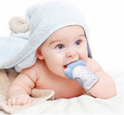 Newborn Baby Silicon Teething Gloves