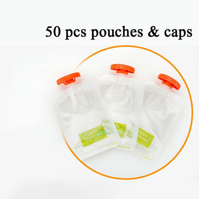 Baby Food Squeeze Station Supplementary 50 Pouches (4 oz/118 mL)