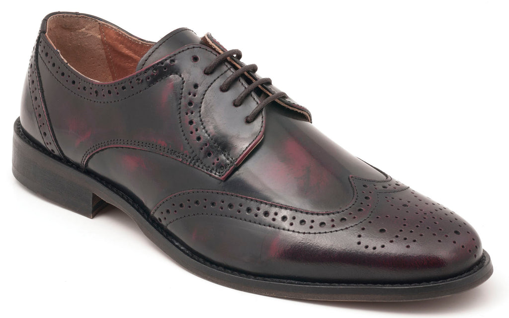 Five-Eye Wingtip Oxblood Leather