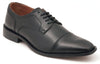 Five-Eye Cap Toe Black Leather