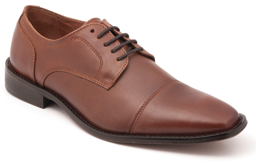 Five-Eye Cap Toe Tan Leather