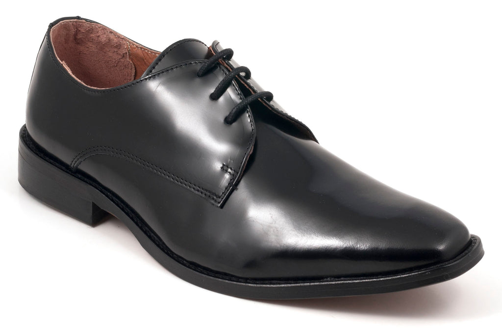 Three-Eye Tux Shoe Black Leather