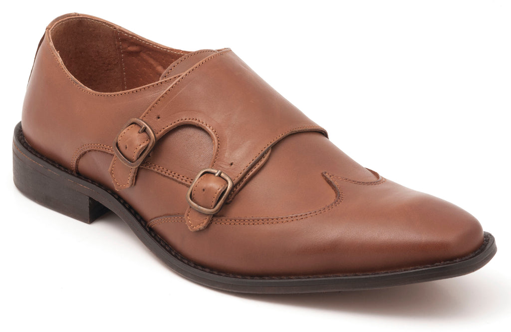 Double Monk Tan Leather
