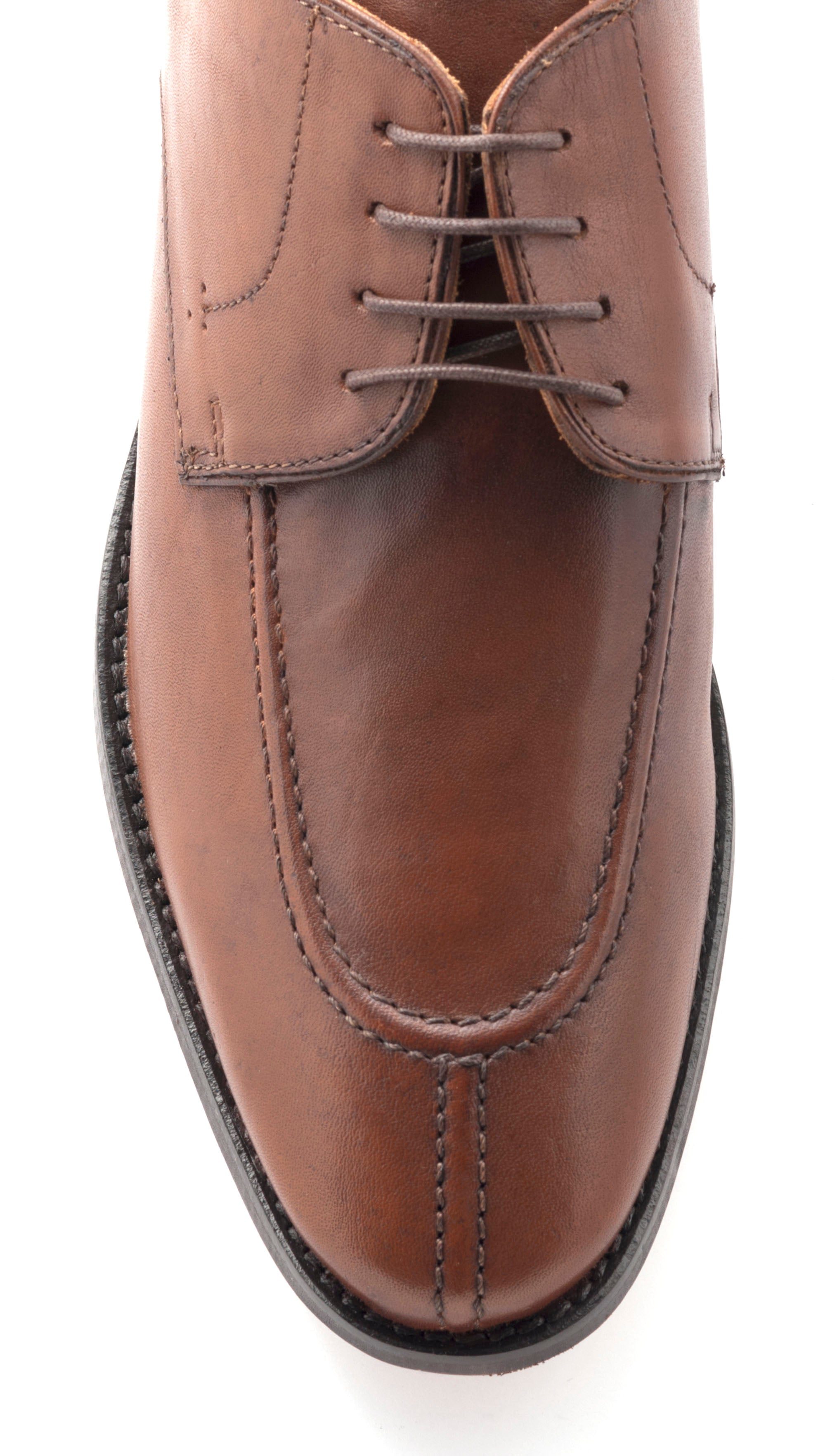 Split Toe Red-Brown Leather
