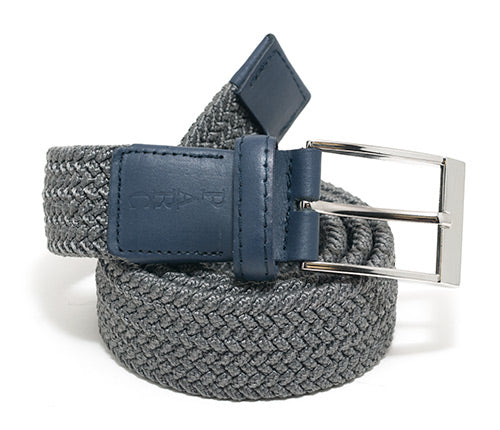 Charcoal Stretch Braid Belt