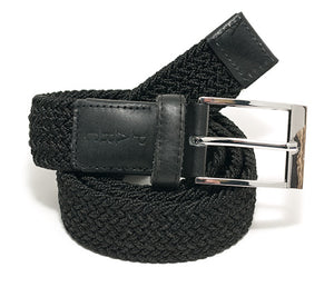 Black Stretch Braid Belt