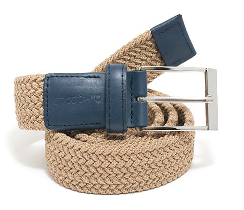 Khaki Stretch Braid Belt