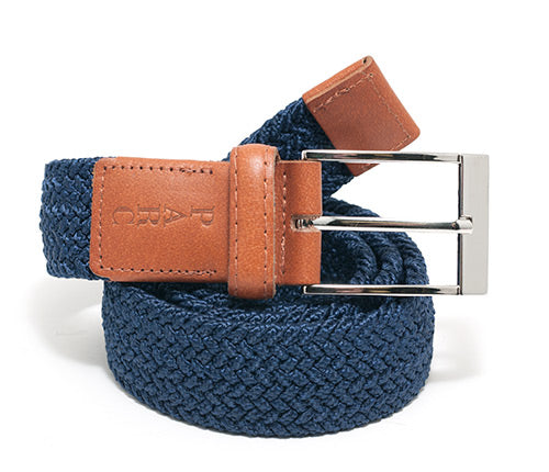 Navy Stretch Braid Belt