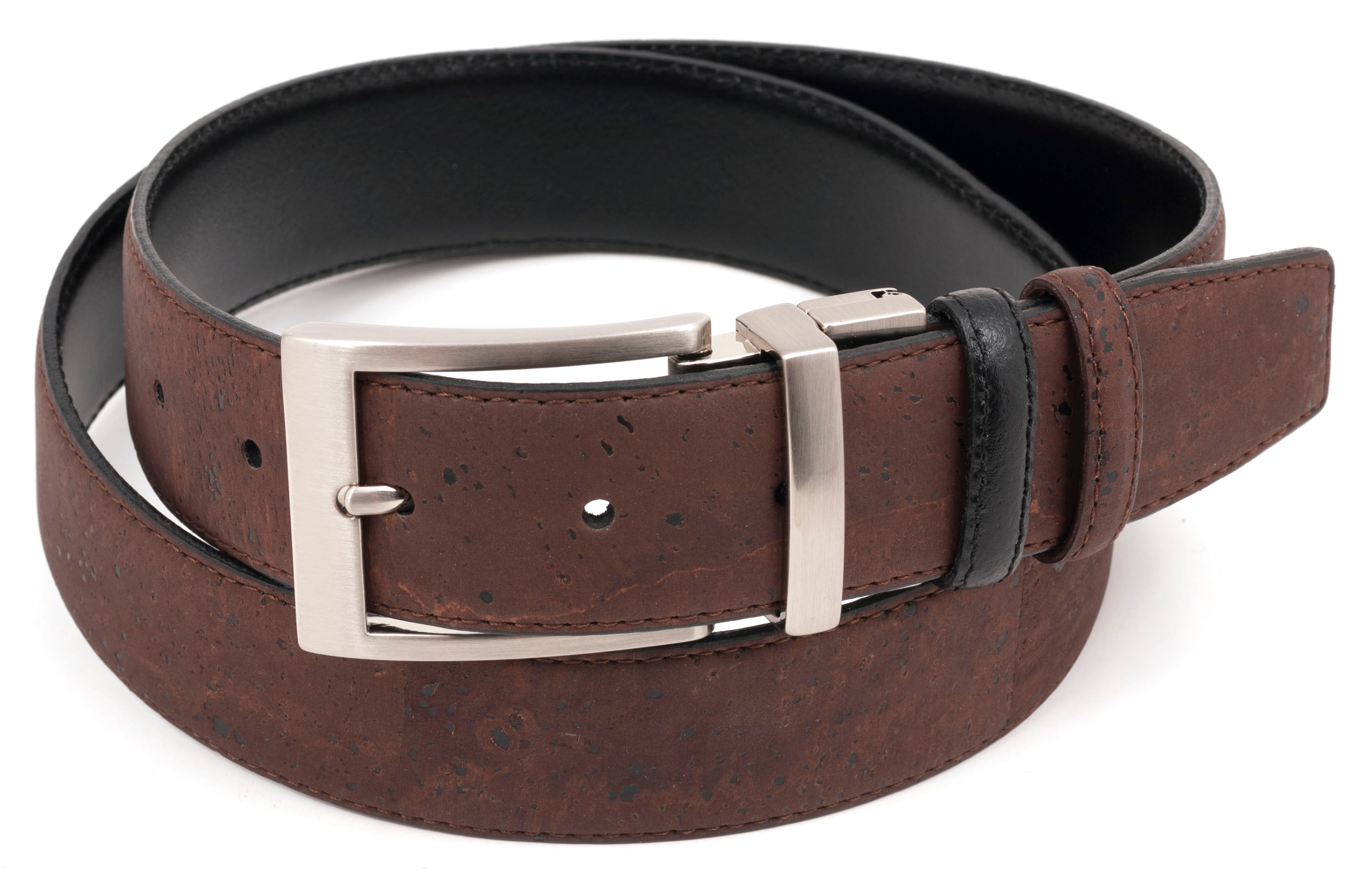 Brown/Black Reversible Cork Belt