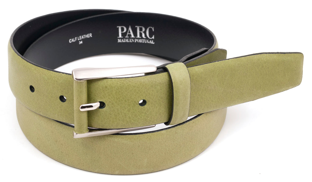 Light Olive Leather Belt