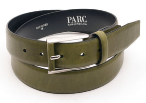 Olive Leather Belt