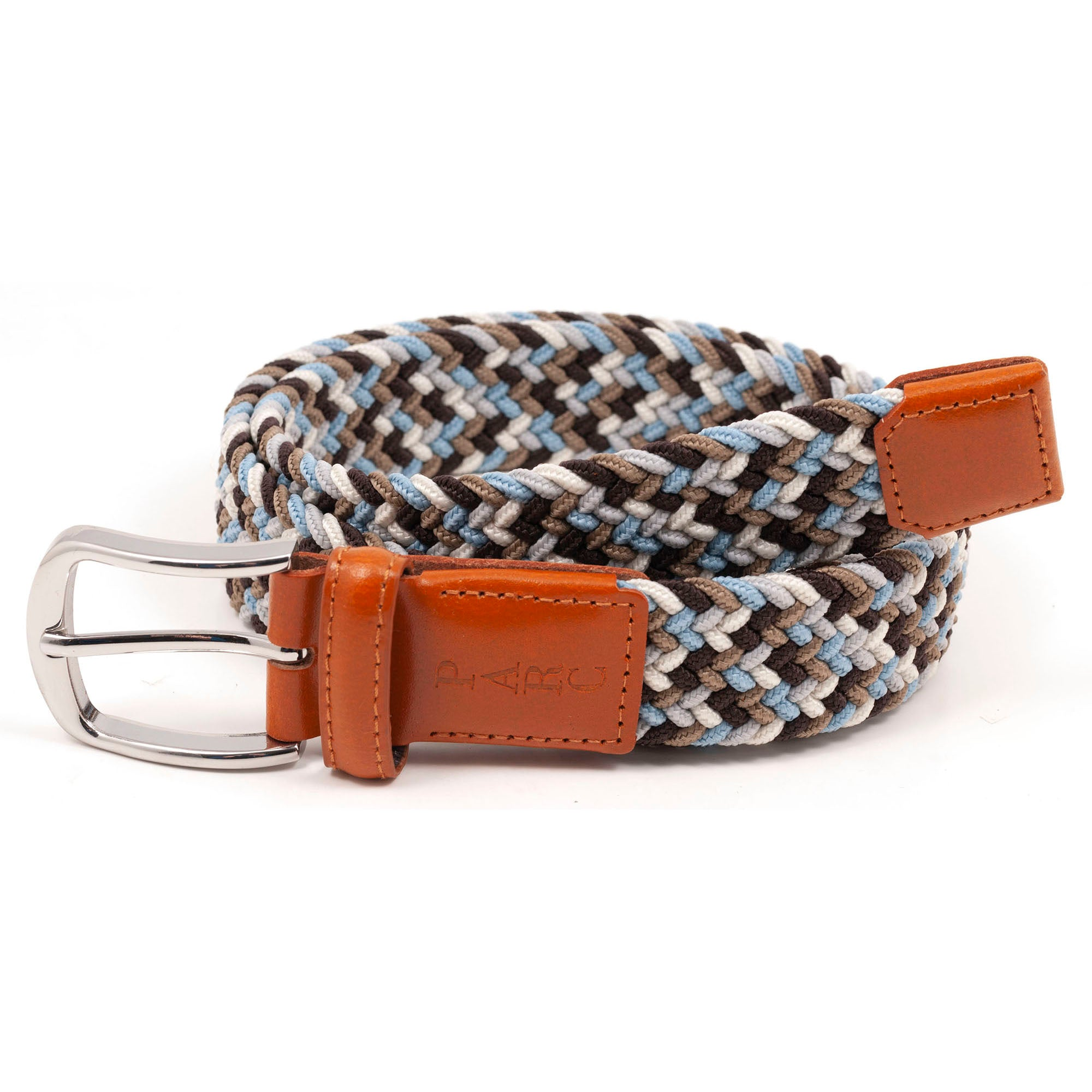 Brown Multi Stretch Braid Belt