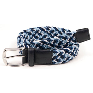 Blue Multi Stretch Braid Belt