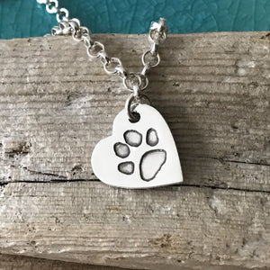 Paw Print Necklace - Belcher