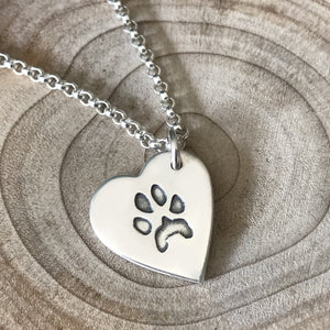 Paw Print Fine Belcher Necklace
