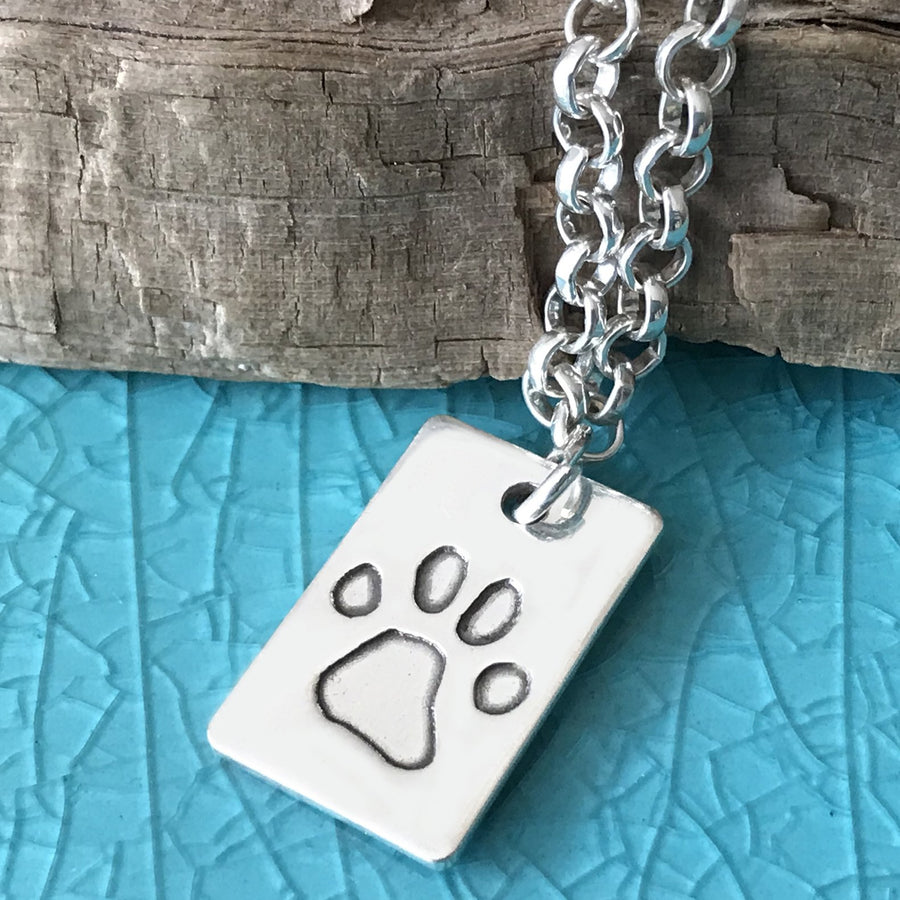 Paw Print Belcher Necklace