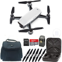 Load image into Gallery viewer, DJI Spark Quadcopter Drone - Alpine White - with Bonus Sandisk 32GB Micro SD & Carrying Case Starter Kit