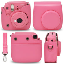 Load image into Gallery viewer, Gift Geeks Camera Case for Fujifilm Instax mini 9 (Flamingo Pink)