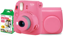 Load image into Gallery viewer, Fujifilm instax mini 9 Instant Film Camera (Flamingo Pink) with Case & 20 Shots of Film