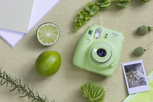 Fujifilm Instax Mini 9 Instant Film Camera - Lime Green - with Matching Personalized Case and 20 Sheets of Film