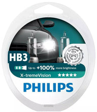 Load image into Gallery viewer, Philips 9005 X-tremeVision Upgrade Headlight Bulb with up to 100% More Vision, 2 Pack