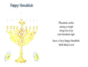 Hanukkah Candles Shining So Bright . . .