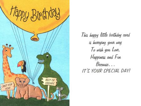 This Happy Little Birthday Card is Hurrying Your Way . . .