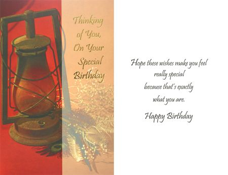 Thinking of Your on Your Special Birthday . . .