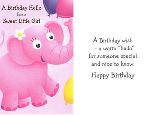 A Birthday Hello for a Sweet Little Girl . . .
