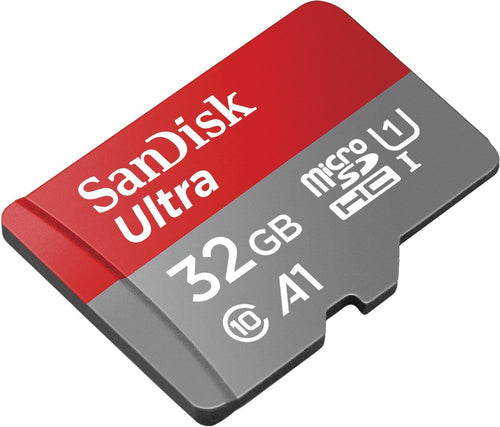 Sandisk Ultra 32GB Micro SDHC UHS-I Card with Adapter