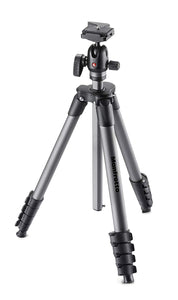 Manfrotto Compact Advanced Aluminum 5-Section Tripod Kit with Ball Head, Black
