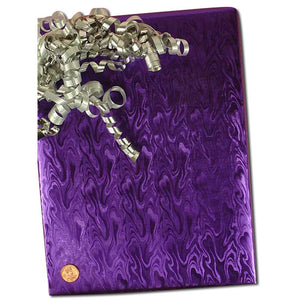 Lavendar Metallic Embossed Gift Wrap
