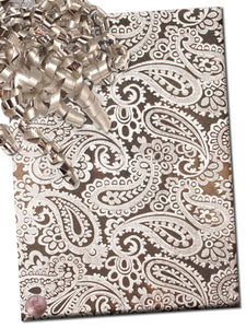SILVER EMBOSSED PAISLEY