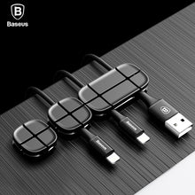Load image into Gallery viewer, Baseus Mobile Phone Cable Clip For Car Desktop Tidy Charger Cable Organizer For Data Cable Digital Wire Charging Cable Winder