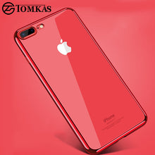 Load image into Gallery viewer, TOMKAS Transparent Case For iPhone 7 8 Plus Cases Silicone Cover Plating TPU Phone Case For iPhone 8 7 Plus Cases Conque