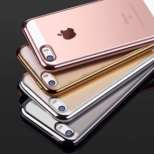 Clear TPU Silicone Case For iPhone 5S 5 SE Phone Coque Fashion Transparent Ultra-thin Soft Back Cover Cases For iPhone 6 6s 7 8