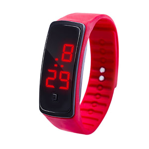 LED Digital Display Bracelet Watch Children's Students Silica Gel Sports Watch