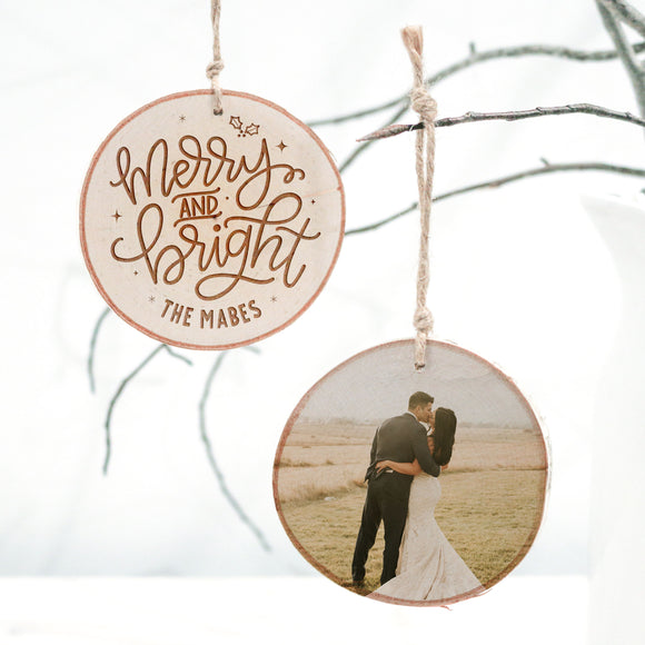 Merry and Bright — Photo Ornament