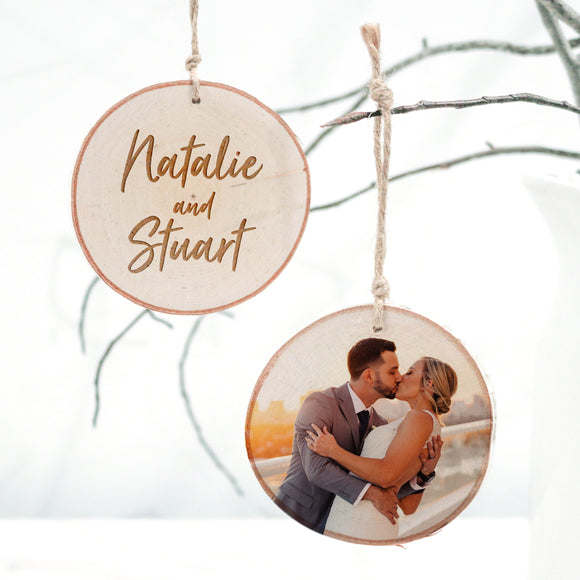 Couple's Photo Ornament